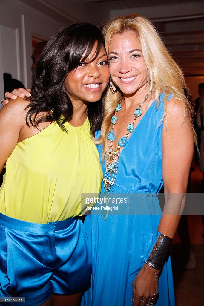 Actress <a gi-track='captionPersonalityLinkClicked' href=/galleries/search?phrase=Taraji+P.+Henson&family=editorial&specificpeople=208823 ng-click='$event.stopPropagation()'>Taraji P. Henson</a> (L) and designer Ramy Brook attend Women's Health Hamptons 'Party Under the Stars' for RUN10 FEED10 at Bridgehampton Tennis and Surf Club on August 3, 2013 in Bridgehampton, New York.