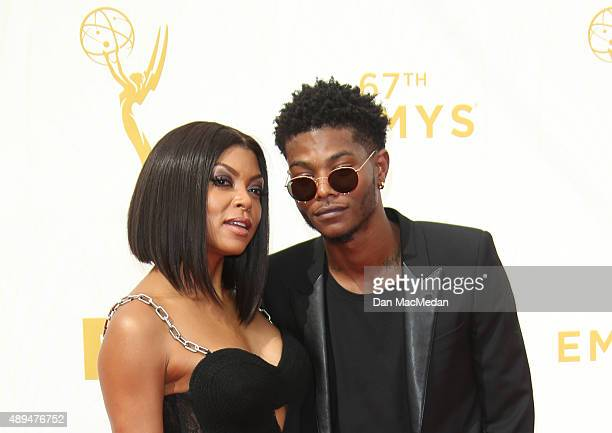 Actress Taraji P Henson and Marcel Henson arrive at the 67th Annual Primetime Emmy Awards at the Microsoft Theater on September 20 2015 in Los...
