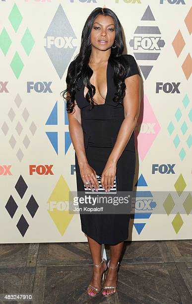 Actress Taraji P Henson arrives at the 2015 Summer TCA Tour FOX AllStar Party at Soho House on August 6 2015 in West Hollywood California