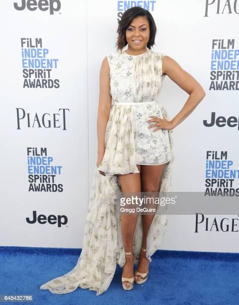 Actress Taraji P Henson arrives at the 2017 Film Independent Spirit Awards on February 25 2017 in Santa Monica California