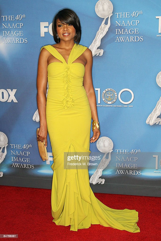 Actress Taraji P. Henson arrives at the 40th NAACP Image Awards held at the Shrine Auditorium on February 12, 2009 in Los Angeles, California.