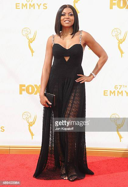 Actress Taraji P Henson arrives at the 67th Annual Primetime Emmy Awards at Microsoft Theater on September 20 2015 in Los Angeles California