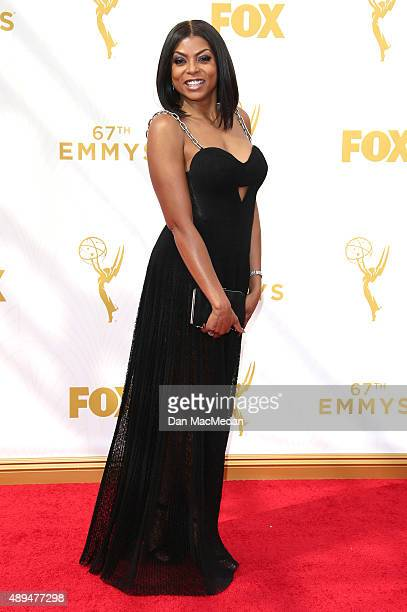 Actress Taraji P Henson arrives at the 67th Annual Primetime Emmy Awards at the Microsoft Theater on September 20 2015 in Los Angeles California
