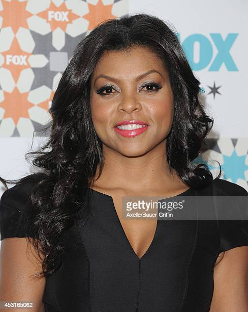 Actress Taraji P Henson arrives at the FOX AllStar Party 2014 Television Critics Association Summer Press Tour at Soho House on July 20 2014 in West...