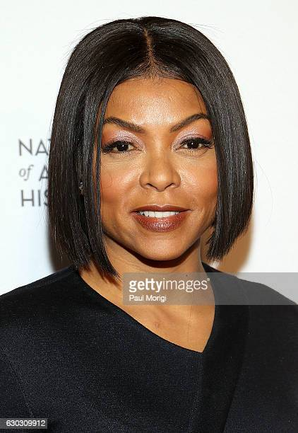 Actress Taraji P Henson arrives at the 'Hidden Figures' Washington DC Screening at National Museum of African American History Culture on December 14...