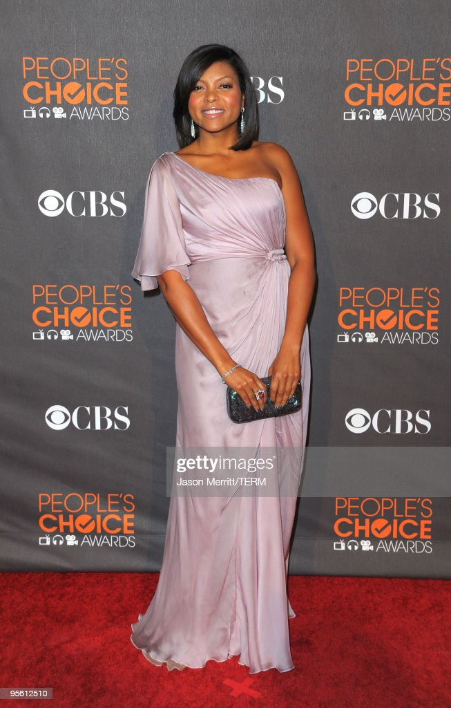 Actress Taraji P Henson arrives at the People's Choice Awards 2010 held at Nokia Theatre LA Live on January 6 2010 in Los Angeles California