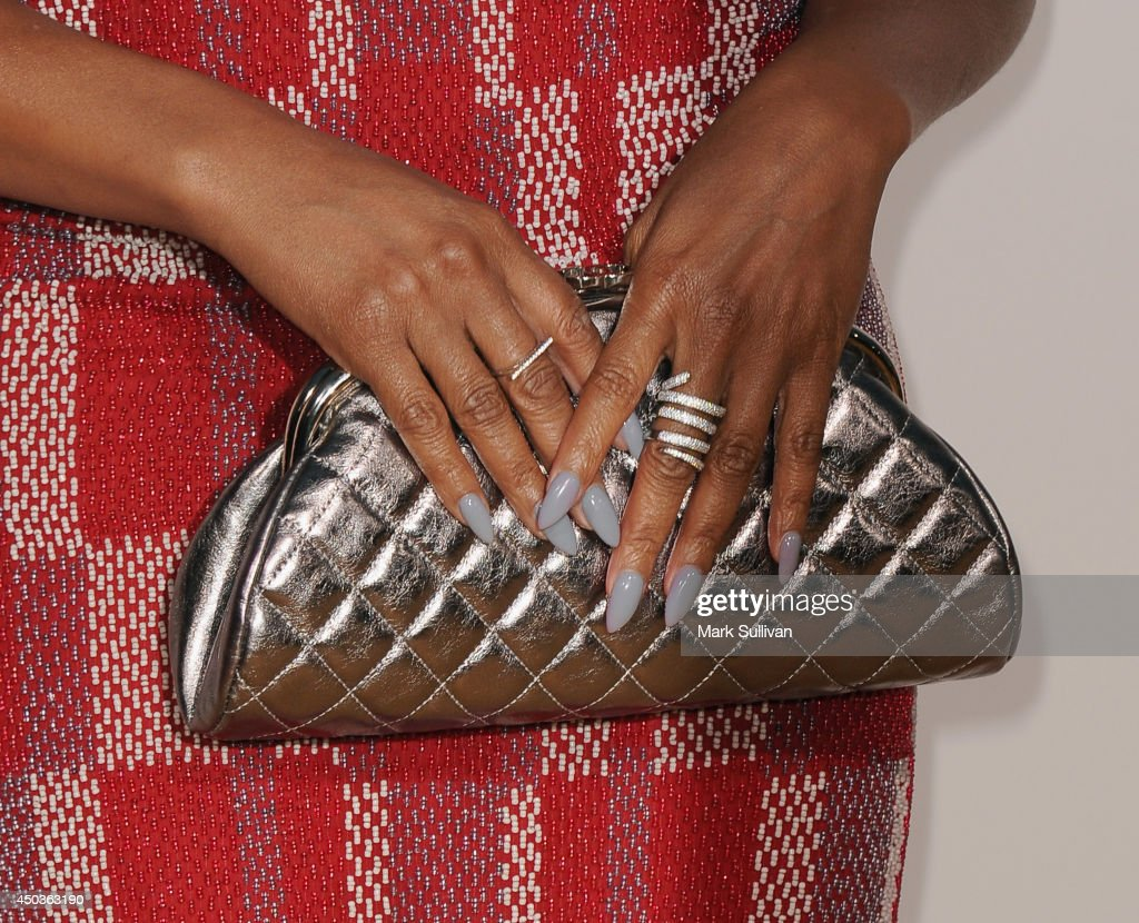 Actress Taraji P. Henson (clutch detail) at the premiere of 'Think Like A Man Too' at TCL Chinese Theatre on June 9, 2014 in Hollywood, California.