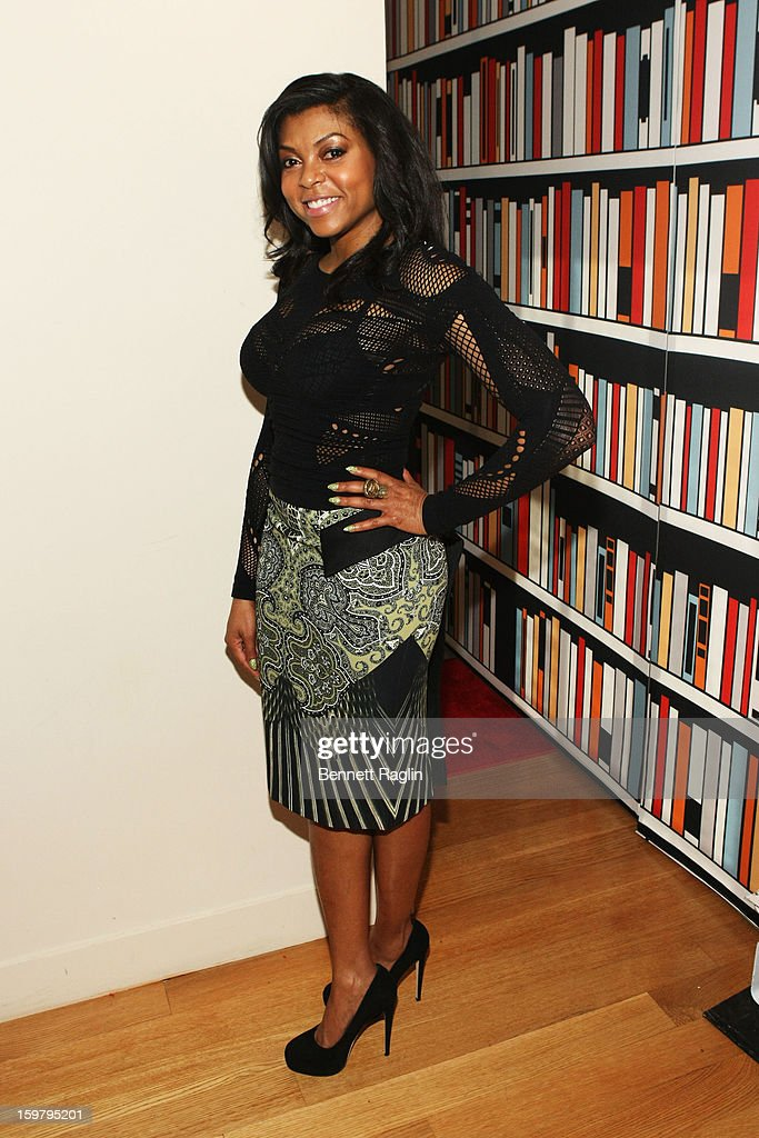 Actress Taraji P. Henson attends a celebration for leading women in Washington hosted by GOOGLE, ELLE, and The Center for American Progress on January 20, 2013 in Washington, United States.