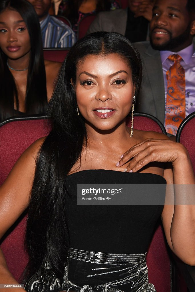 Actress <a gi-track='captionPersonalityLinkClicked' href=/galleries/search?phrase=Taraji+P.+Henson&family=editorial&specificpeople=208823 ng-click='$event.stopPropagation()'>Taraji P. Henson</a> attends the 2016 BET Awards at the Microsoft Theater on June 26, 2016 in Los Angeles, California.