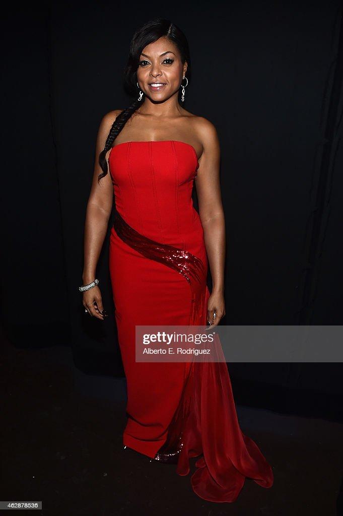 Actress Taraji P Henson attends the 46th NAACP Image Awards presented by TV One at Pasadena Civic Auditorium on February 6 2015 in Pasadena California