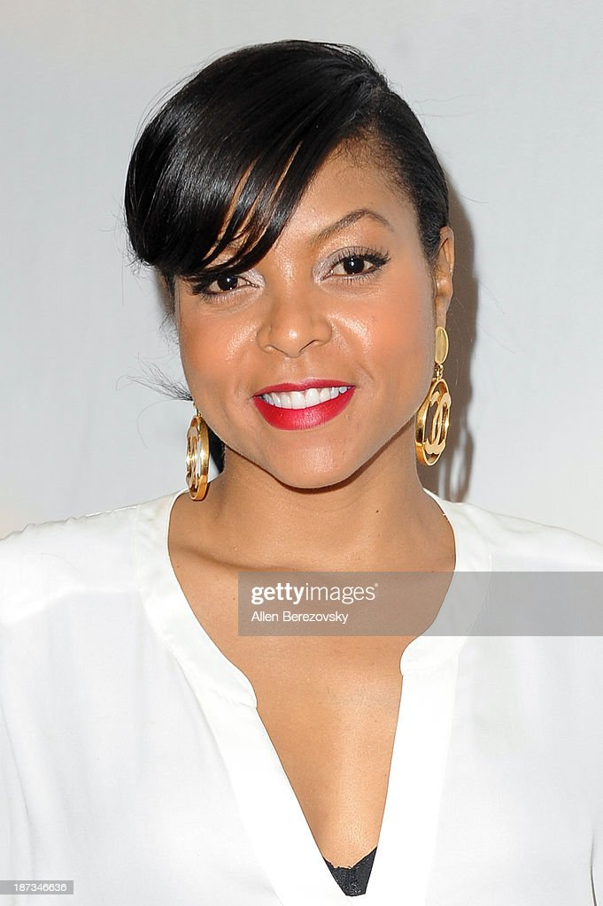 Actress <a gi-track='captionPersonalityLinkClicked' href=/galleries/search?phrase=Taraji+P.+Henson&family=editorial&specificpeople=208823 ng-click='$event.stopPropagation()'>Taraji P. Henson</a> attends the AMPAS Academy Nicholl Fellowships in Screenwriting Awards at AMPAS Samuel Goldwyn Theater on November 7, 2013 in Beverly Hills, California.