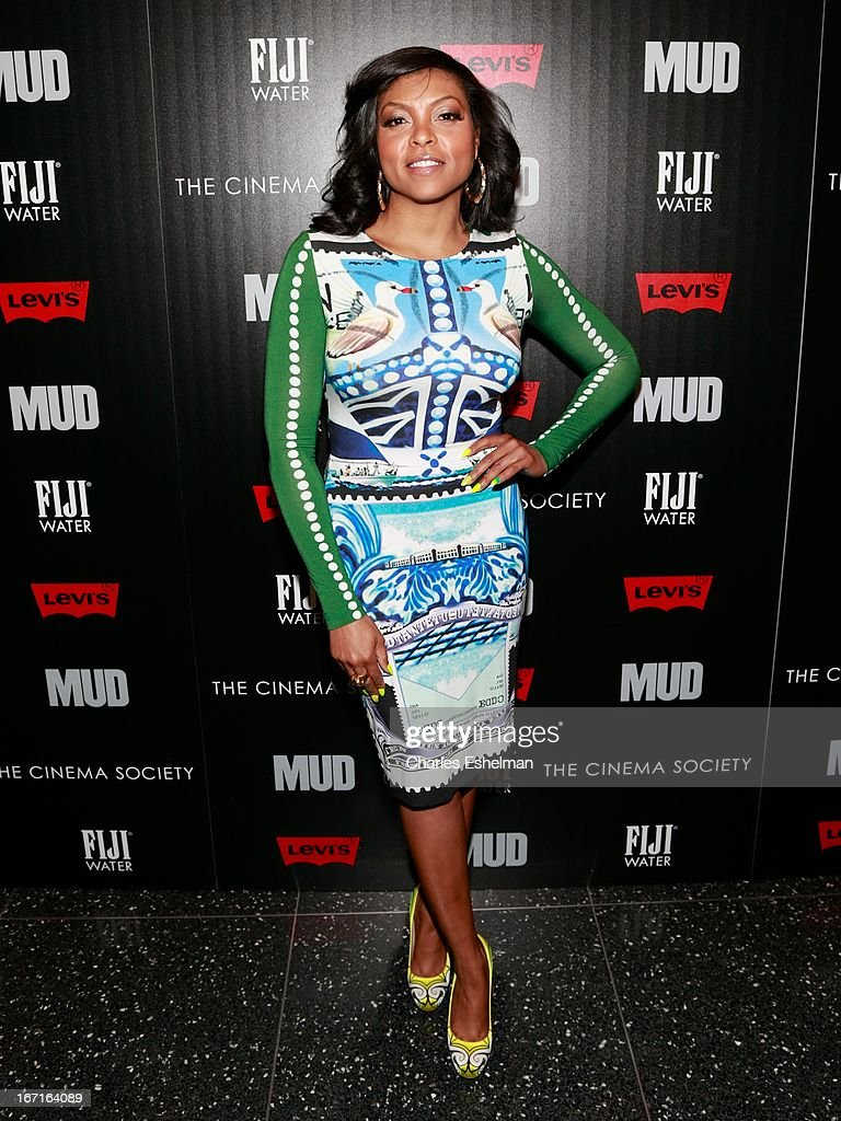 Actress Taraji P. Henson attends The Cinema Society with FIJI Water & Levi's screening of 'Mud' at The Museum of Modern Art on April 21, 2013 in New York City.