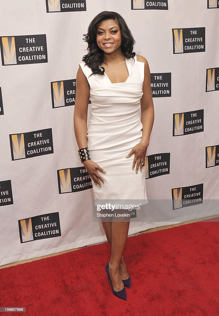 Actress Taraji P Henson attends The Creative Coalition's 2013 Inaugural Ball at the Harman Center for the Arts on January 21 2013 in Washington...