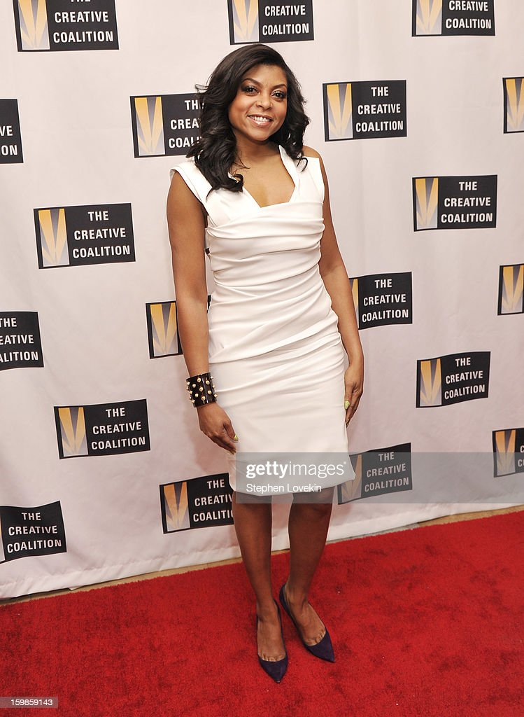 Actress Taraji P. Henson attends The Creative Coalition's 2013 Inaugural Ball at the Harman Center for the Arts on January 21, 2013 in Washington, United States.