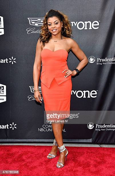 Actress Taraji P Henson attends the 'Dope' opening night premiere at the 2015 American Black Film Festival at SVA Theater on June 11 2015 in New York...