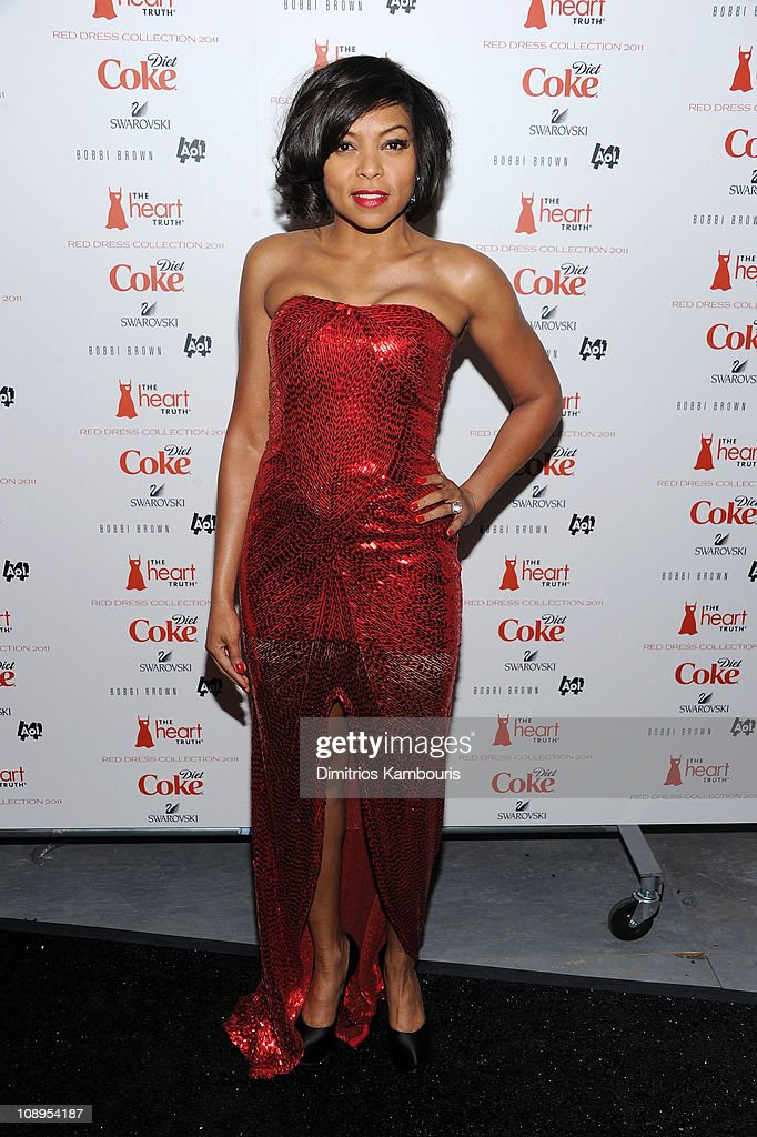 Actress Taraji P. Henson attends the Heart Truth's Red Dress Collection 2011 during Mecerdes-Benz fashion week at The Theatre at Lincoln Center on February 9, 2011 in New York City.