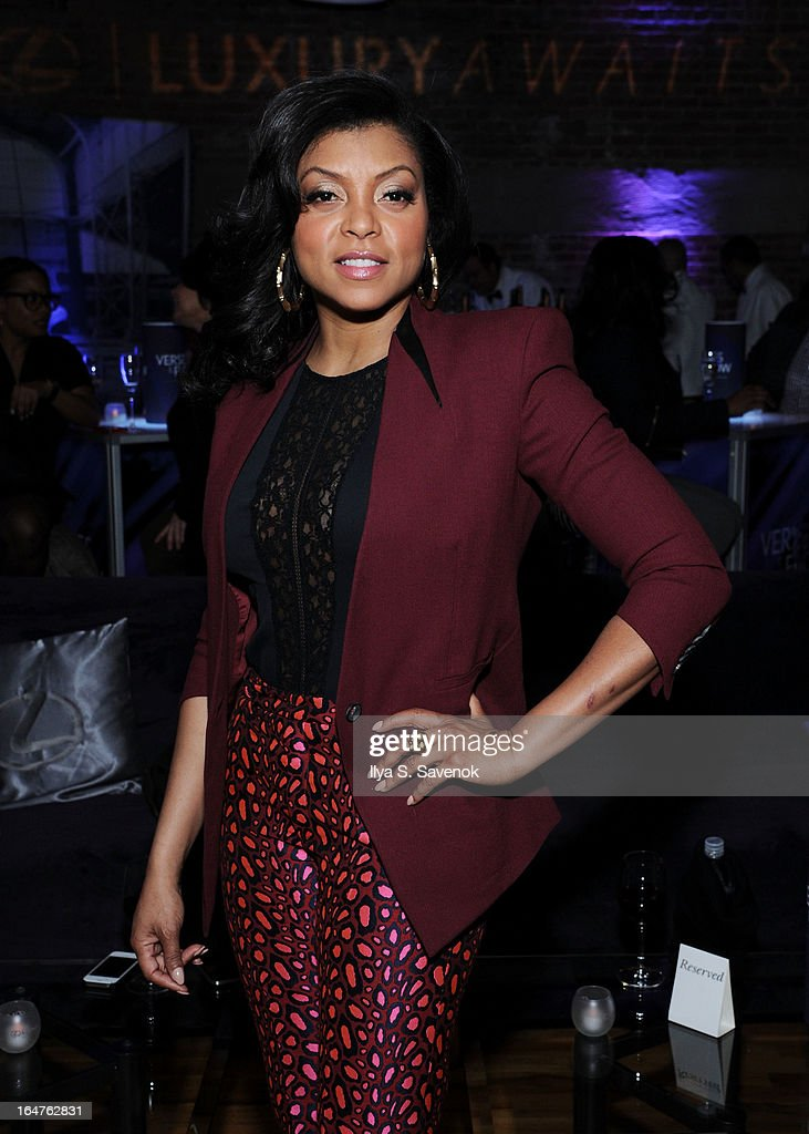 Actress Taraji P. Henson attends 'Verses And Flow' Live at The Liberty Warehouse on March 27, 2013 in New York City.