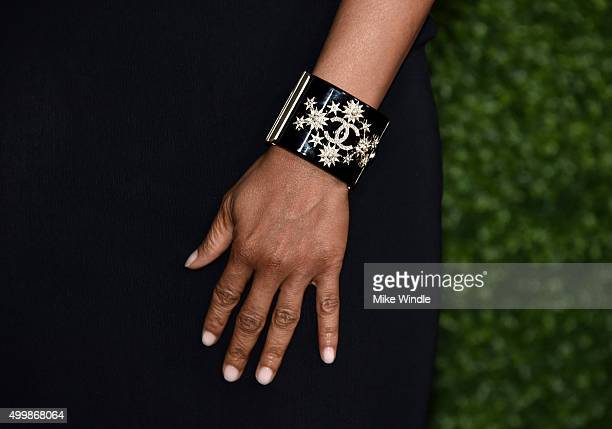 Actress Taraji P Henson bracelet detail attends the GQ 20th Anniversary Men Of The Year Party at Chateau Marmont on December 3 2015 in Los Angeles...