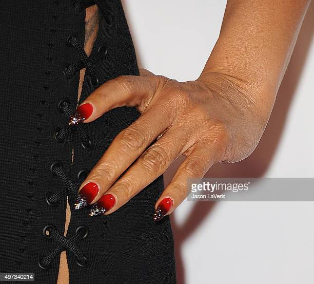 Actress Taraji P Henson nail detail attends the VH1 Big In 2015 with Entertainment Weekly Awards at Pacific Design Center on November 15 2015 in West...
