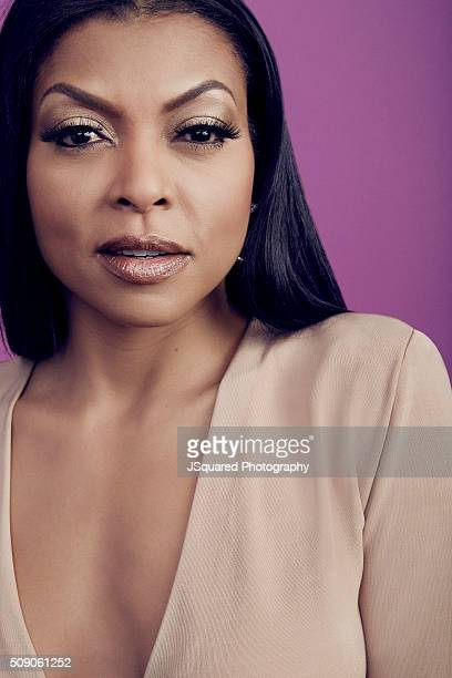 Actress Taraji P Henson poses for a portrait during the 47th NAACP Image Awards presented by TV One at Pasadena Civic Auditorium on February 5 2016...