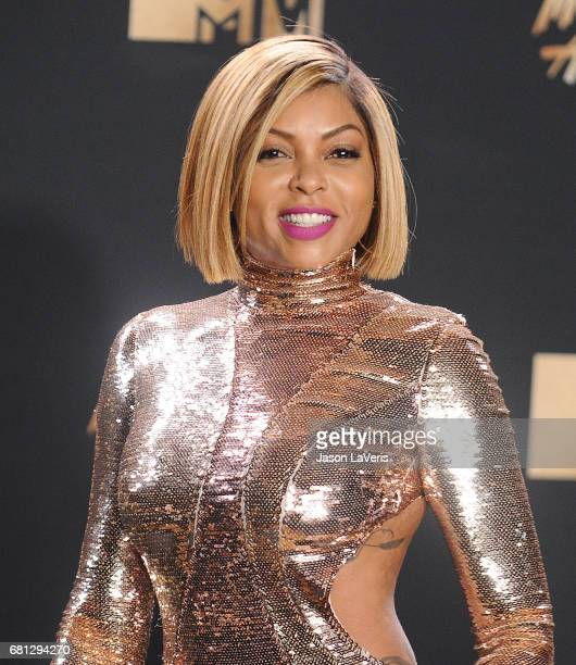 Actress Taraji P Henson poses in the press room at the 2017 MTV Movie and TV Awards at The Shrine Auditorium on May 7 2017 in Los Angeles California