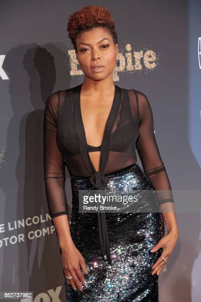 Actress Taraji P Henson poses on the red carpet during the 'Empire' 'Star' Celebrate FOX's New Wednesday Night at One World Observatory on September...