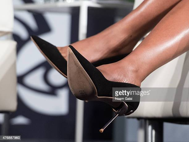 Actress Taraji P Henson shoe detail attends the 2015 American Black Film Festival at New York Hilton Grand Ballroom on June 12 2015 in New York City