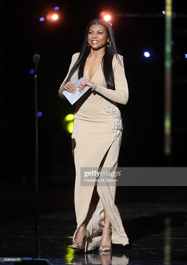 Actress Taraji P. Henson speaks onstage during the 47th NAACP Image Awards presented by TV One at Pasadena Civic Auditorium on February 5, 2016 in Pasadena, California.