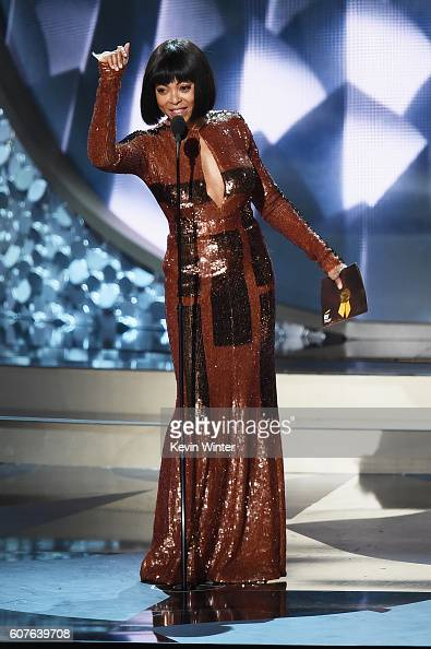 Actress Taraji P Henson speaks onstage during the 68th Annual Primetime Emmy Awards at Microsoft Theater on September 18 2016 in Los Angeles...