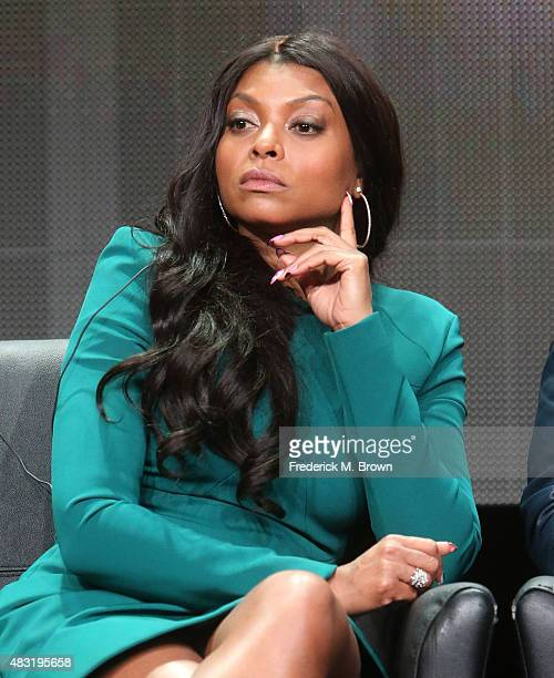 Actress Taraji P Henson speaks onstage during the 'Empire' panel discussion at the FOX portion of the 2015 Summer TCA Tour at The Beverly Hilton...
