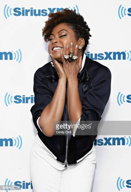 Actress Taraji P Henson visits the SiriusXM Studios on October 6 2017 in New York City
