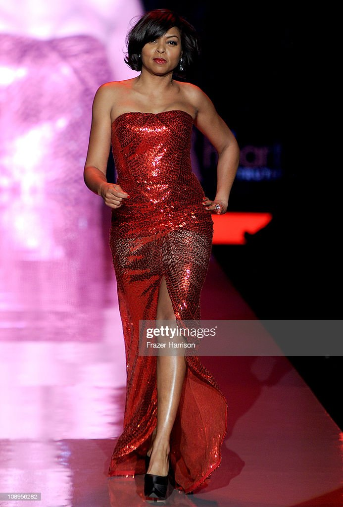 Actress Taraji P. Henson walks the runway at the Heart Truth Fall 2011 fashion show during Mercedes-Benz Fashion Week at The Theatre at Lincoln Center on February 9, 2011 in New York City.