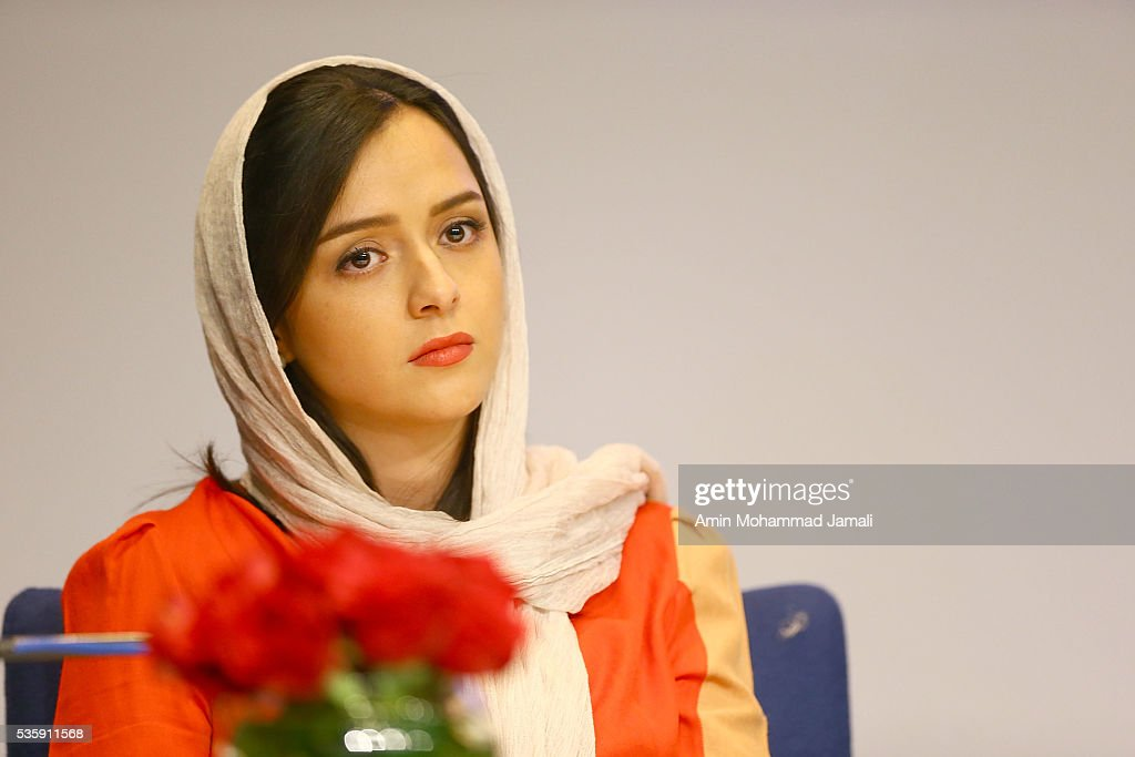Actress Taraneh Alidousti looks on during Director Asghar Farhadi and Actor Shahab Hosseini - Press Conference the on May 30, 2016 in Tehran, Iran.