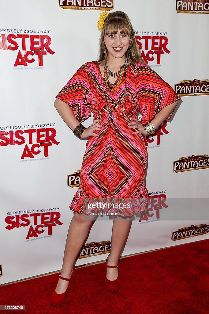 Actress Tara-Nicole Azarian arrives at the 'Sister Act' opening night premiere at the Pantages Theatre on July 9, 2013 in Hollywood, California.
