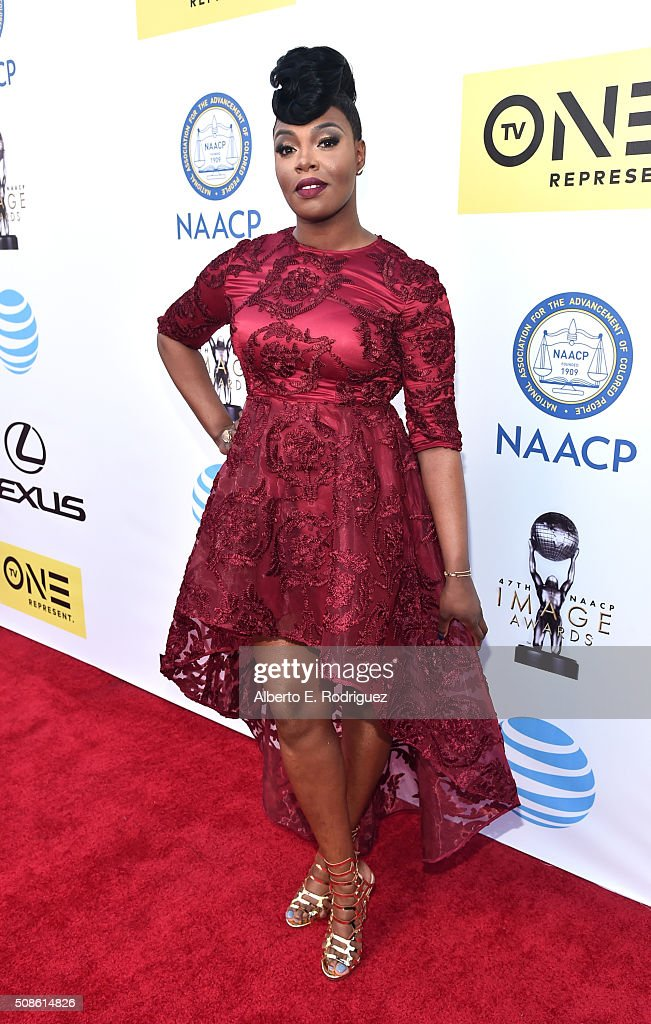 Actress Ta'Rhonda Jones attends the 47th NAACP Image Awards presented by TV One at Pasadena Civic Auditorium on February 5, 2016 in Pasadena, California.
