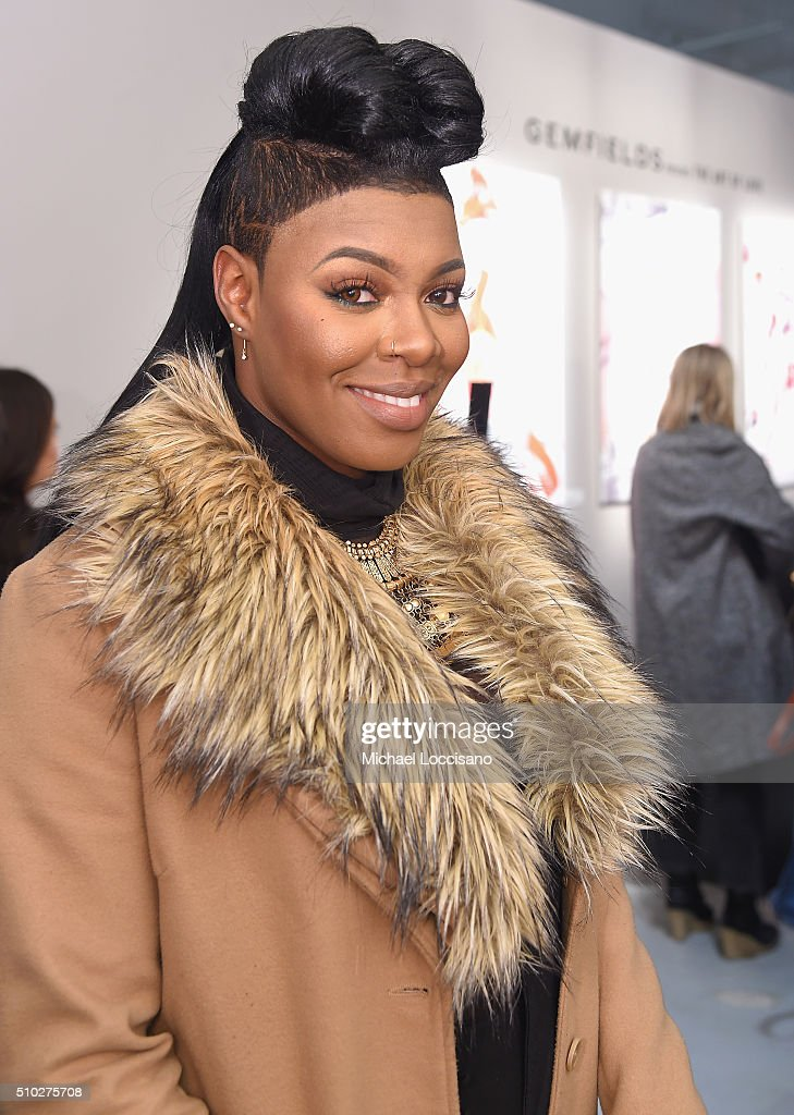 Actress Ta'Rhonda Jones attends the Gemfields Event at Fall 2016 New York Fashion Week at Skylight Clarkson Sq on February 14, 2016 in New York City.
