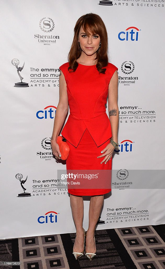Actress Taryn Manning arrives at the Academy of Television Arts & Sciences' Performers Peer Group cocktail reception to celebrate the 65th Primetime Emmy Awards at Sheraton Universal on August 19, 2013 in Universal City, California.