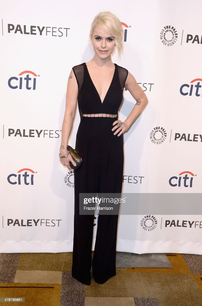 Actress Taryn Manning arrives at The Paley Center For Media's PaleyFest 2014 Honoring 'Orange Is The New Black' at Dolby Theatre on March 14 2014 in...