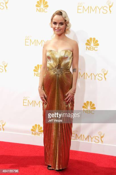 Actress Taryn Manning attends the 66th Annual Primetime Emmy Awards held at Nokia Theatre LA Live on August 25 2014 in Los Angeles California