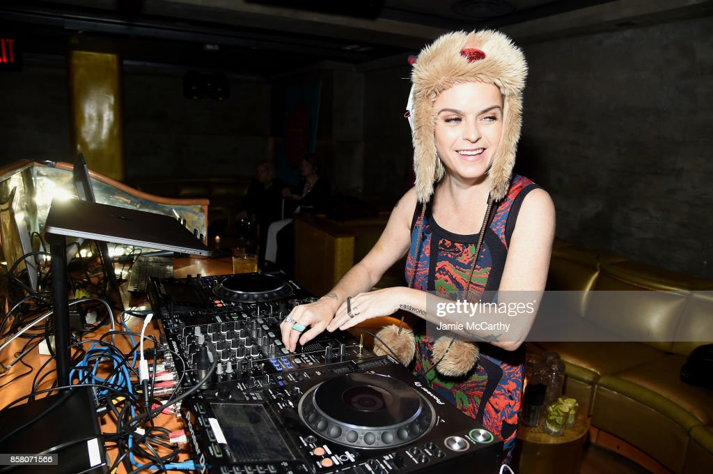 Actress Taryn Manning DJs at the HSN 2017 Holiday Cocktail Party at KOLA House on October 5, 2017 in New York City.
