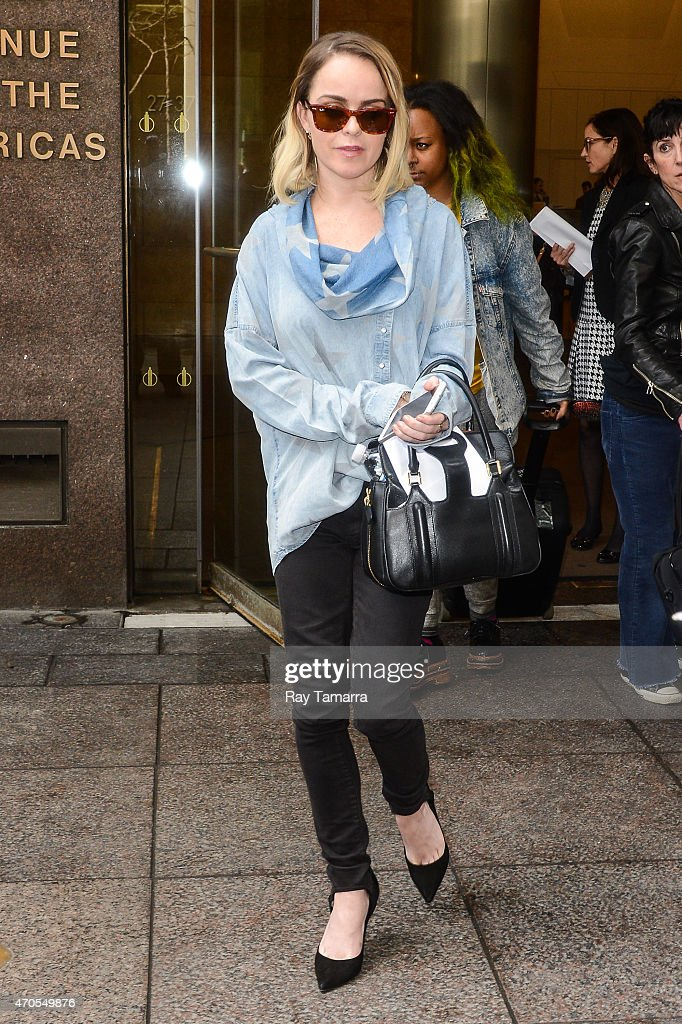 Actress Taryn Manning leaves the Sirius XM Studios on April 21 2015 in New York City
