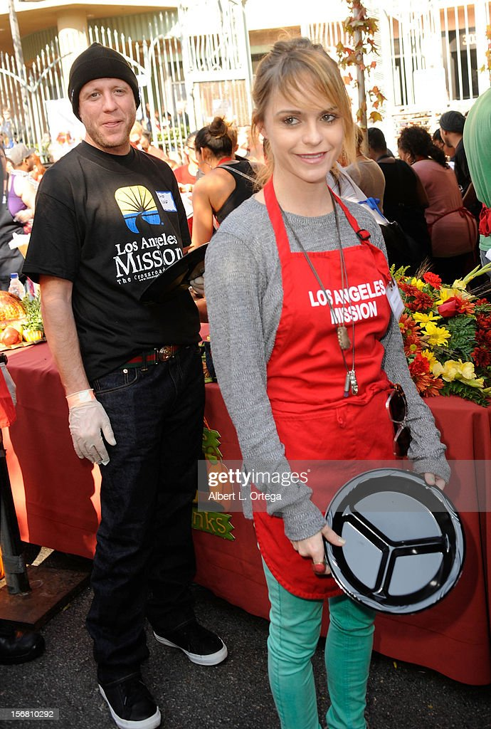 Actress Taryn Manning participates in Kirk And Anne Douglas' 8th Annual Thanksgiving For Skid Row Homeless at The Los Angele Mission held at Los Angeles Mission on November 21, 2012 in Los Angeles, California.