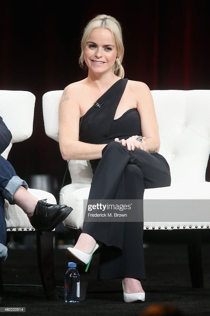 Actress Taryn Manning speaks onstage during the 'Orange Is the New Black' panel discussion at the Netflix portion of the 2015 Summer TCA Tour at The Beverly Hilton Hotel on July 28, 2015 in Beverly Hills, California.