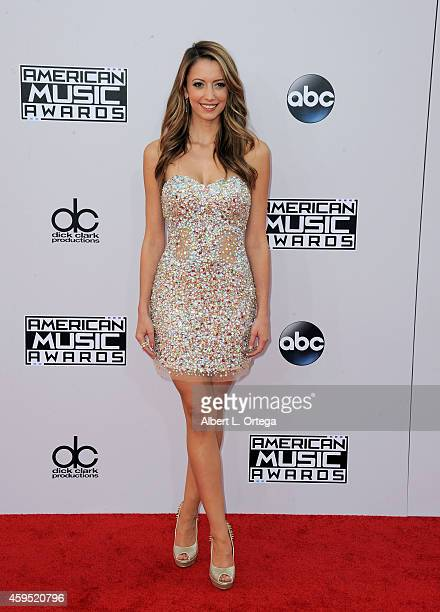 Actress Taryn Southern arrives for the 42nd Annual American Music Awards held at Nokia Theatre LA Live on November 23 2014 in Los Angeles California