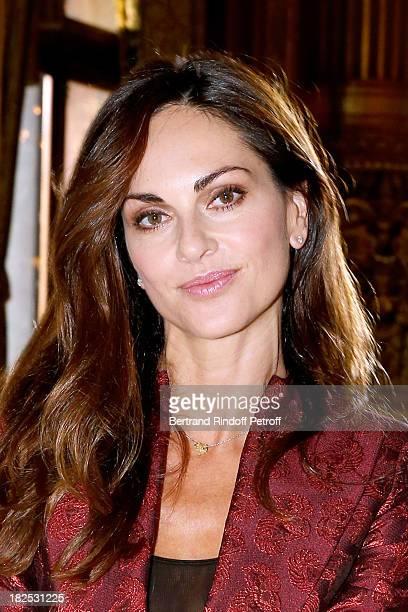 Actress Tasha de Vasconcelos attends Stella McCartney show as part of the Paris Fashion Week Womenswear Spring/Summer 2014 held at Opera Garnier on...