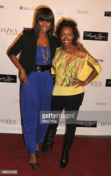 Actress Tasha Smith and actress Debra Ffewell arrives at the Angela Dean Fashion Show and launch party for the new ''Dean RTW'' Collection held at...