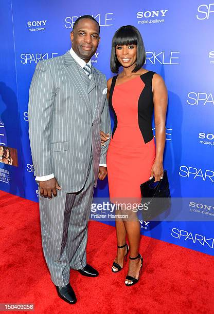 Actress Tasha Smith and Keith Douglasrrive at TriStar Pictures' 'Sparkle' premiere at Grauman's Chinese Theatre on August 16 2012 in Hollywood...