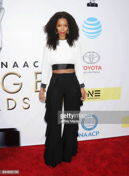 Actress Tasha Smith arrives at the 48th NAACP Image Awards at Pasadena Civic Auditorium on February 11 2017 in Pasadena California