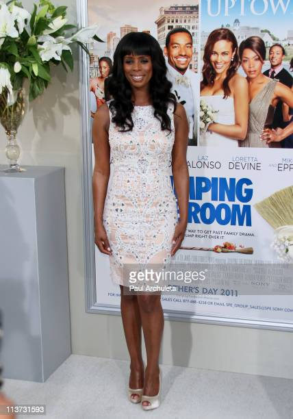 Actress Tasha Smith arrives at the 'Jumping The Broom' Los Angeles premiere at ArcLight Cinemas Cinerama Dome on May 4 2011 in Hollywood California