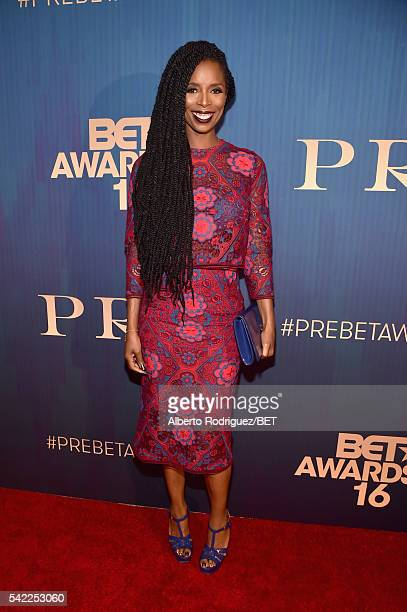 Actress Tasha Smith attends Debra Lee's PRE kicking off the 2016 BET Awards on June 22 2016 in Los Angeles California